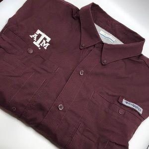 XL Columbia PFG Texas A&M Logo Shirt S/S